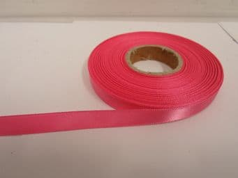 Barbie bright Pink Satin ribbon Double sided 3mm 7mm 10mm 15mm 25mm 38mm 50mm Roll Bow